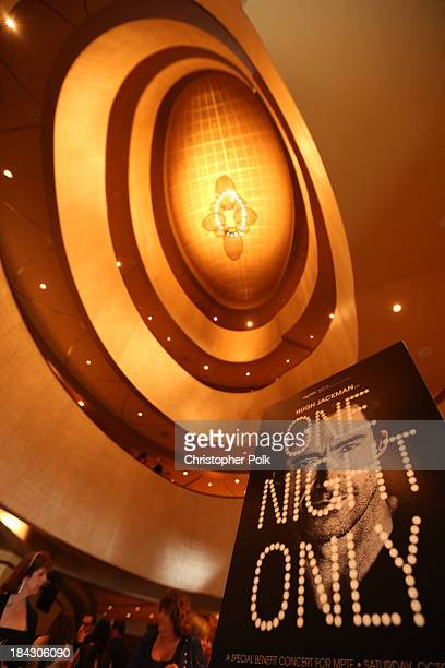 A general view of atmosphere at Hugh Jackman One Night Only Benefiting MPTF at Dolby Theatre on October 12 2013 in Hollywood California