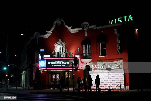 A general view of atmosphere at Hulu Presents The LA Premiere Of 'Behind the Mask' at the Vista Theatre on October 24 2013 in Los Angeles California