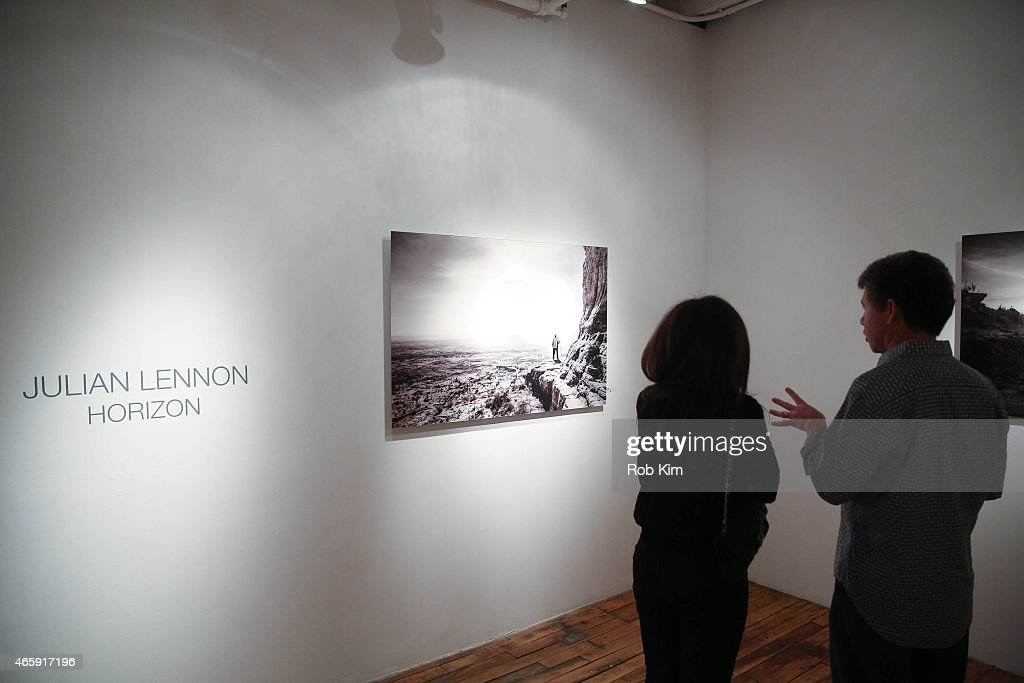General view of atmosphere at Julian Lennon's 'Horizon' Exhibition Opening at Emmanuel Fremin Gallery on March 11, 2015 in New York City.