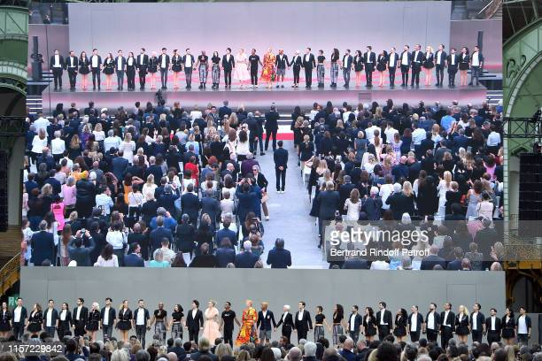 "General view of atmosphere at ""Karl for Ever"" Tribute to Karl Lagerfeld at Grand Palais on June 20, 2019 in Paris, France."