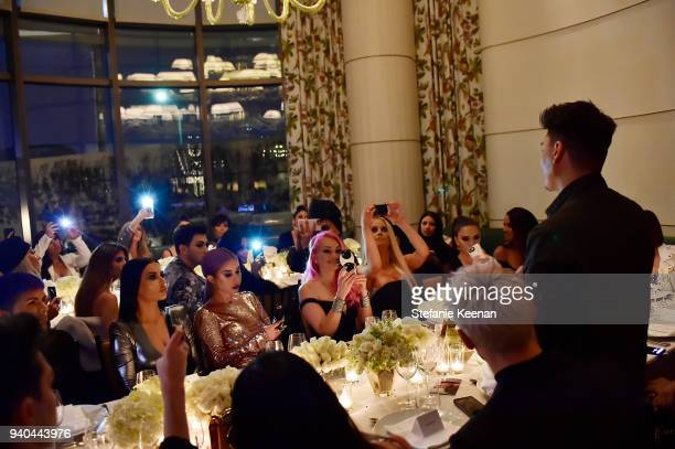 A general view of atmosphere at KKWxMario Dinner at JeanGeorges Beverly Hills on March 31 2018 in Beverly Hills California
