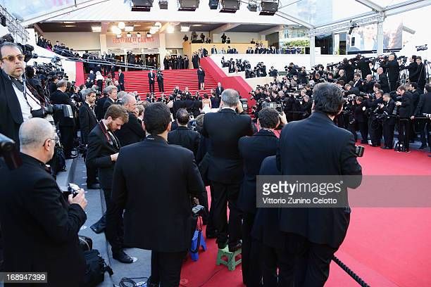 General view of atmosphere at Le Passe Premiere during the 66th Annual Cannes Film Festival at Grand Theatre Lumiere on May 17 2013 in Cannes France