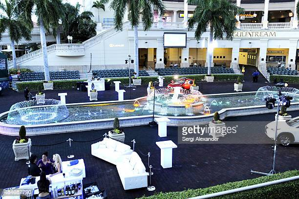 General view of atmosphere at Lexus PopUp Concert Series Powered By Pandora at Gulfstream Park on August 20 2015 in Hallandale Florida
