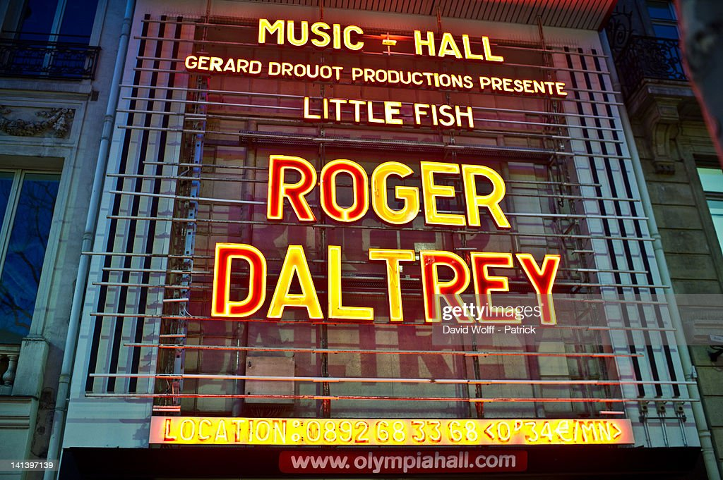 Roger Daltrey In Concert At L'Olympia : News Photo