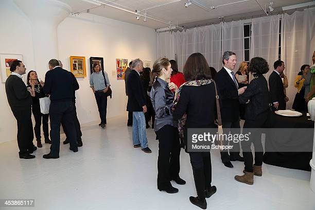 General view of atmosphere at 'love art give a smile' Art Fashion And Design Benefit at Clen Gallery on December 5 2013 in New York City