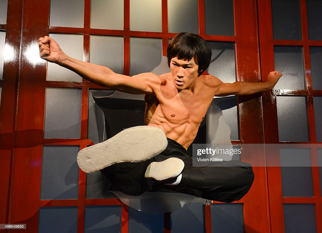 Madame Tussauds Hollywood Unveils New Bruce Lee Figure Alongside The Legend's Daughter Shannon Lee, And The Bruce Lee Foundation : News Photo