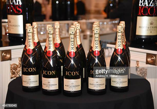 A general view of atmosphere at Moet Chandon and Belvedere Vodka Toast to Harper's Bazaar Icons at The Plaza Hotel on September 5 2014 in New York...