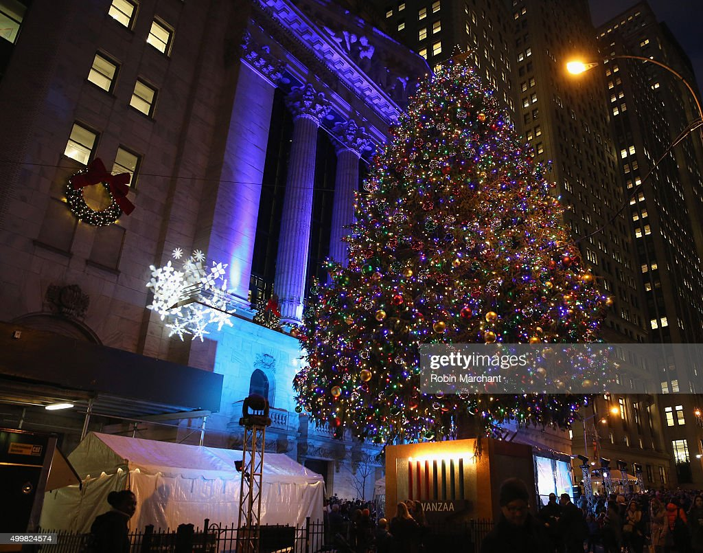 General view of atmosphere at New York Stock Exchange 92nd Annual Christmas Tree Lighting at New & New York Stock Exchange 92nd Annual Christmas Tree Lighting Photos ... azcodes.com