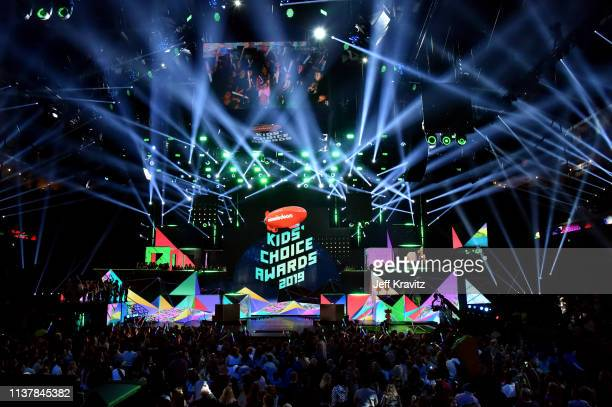 General view of atmosphere at Nickelodeon's 2019 Kids' Choice Awards at Galen Center on March 23 2019 in Los Angeles California