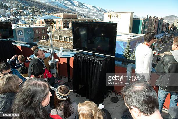 A general view of atmosphere at Paige Hospitality Game Watch at Sky Bar on January 20 2013 in Park City Utah