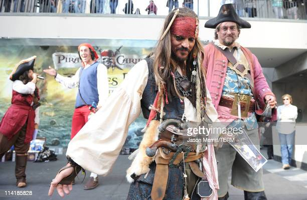 """General view of atmosphere at """"Pirates of the Caribbean: On Stranger Tides"""" Themed """"Pirates Day"""" at Hot Topic on May 14, 2011 in Hollywood,..."""