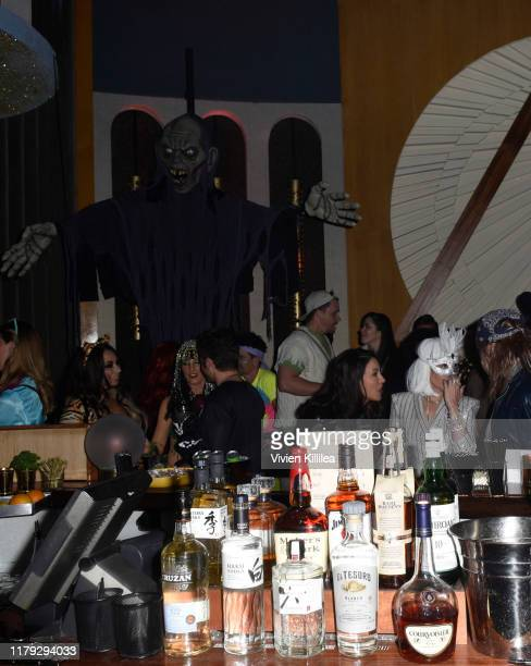 A general view of atmosphere at Podwall Entertainment's 10th Annual Halloween Party presented by Maker's Mark on October 31 2019 in West Hollywood...