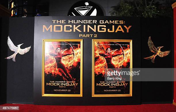 General view of atmosphere at Premiere Of Lionsgate's 'The Hunger Games Mockingjay Part 2' at Microsoft Theater on November 16, 2015 in Los Angeles,...