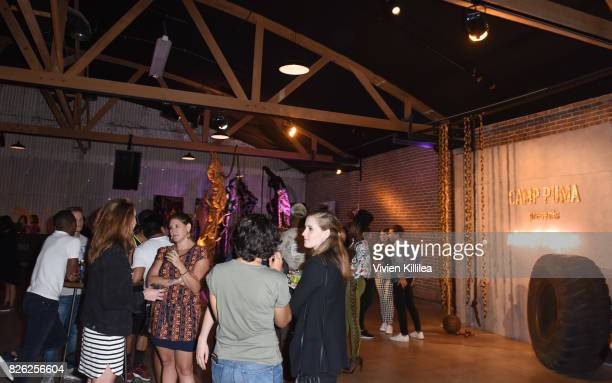 A general view of atmosphere at PUMA Hosts CAMP PUMA To Launch Their Newest Women's Collection Velvet Rope at Goya Studios on August 3 2017 in Los...