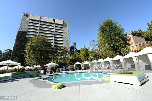 A general view of atmosphere at Seventeen Magazine's September Issue Celebration with Kendall Jenner and Kylie Jenner at the W Hotel Westwood on...
