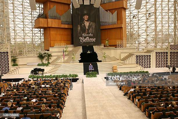 A general view of atmosphere at Simply Believe A Celebration Of Charles Mask Lewis Jr held at The Crystal Cathedral on April 14 2008 in Garden Grove...