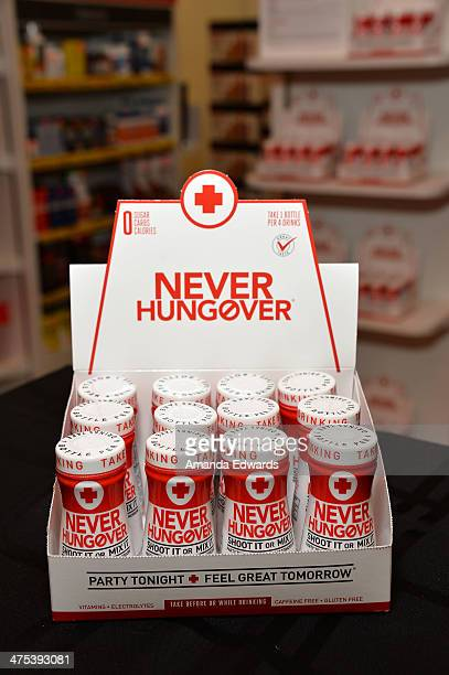 A general view of atmosphere at television personality Adrienne Maloof's promotion of Never Hungover elixir at GNC at The Beverly Center on February...