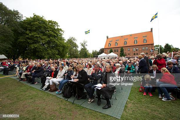 A general view of atmosphere at the 1000th Anniversary of Skara Diocese on August 30 2014 in Skara Sweden