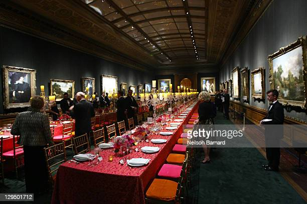 A general view of atmosphere at the 2011 Frick Collection Autumn Dinner Honoring Anne L Poulet at The Frick Collection on October 17 2011 in New York...
