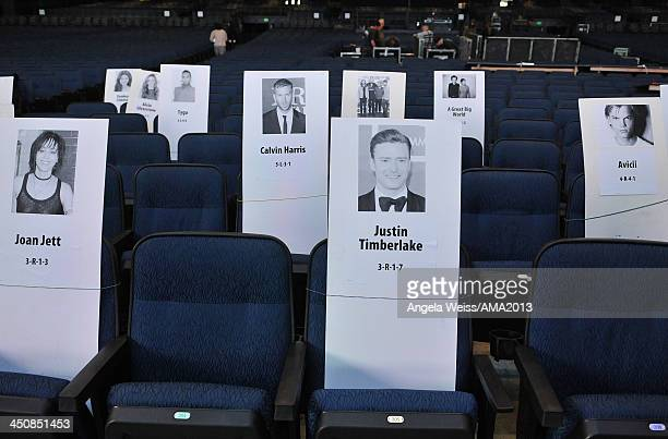 General view of atmosphere at the 2013 American Music Awards press preview day held at Nokia Plaza L.A. LIVE on November 20, 2013 in Los Angeles,...