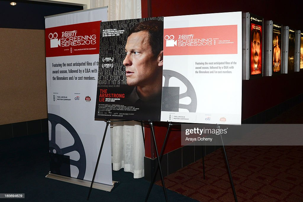 "2013 Variety Screening Series Presents Sony Pictures Classics' ""The Armstrong Lie"" : News Photo"