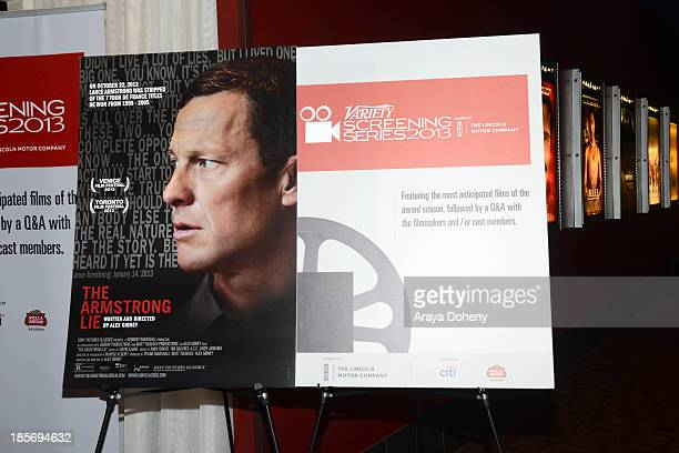 A general view of atmosphere at the 2013 Variety Screening Series Presents Sony Pictures Classics' The Armstrong Lie at ArcLight Hollywood on October...