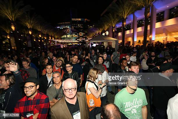 A general view of atmosphere at the 2014 National Association of Music Merchants show at the Anaheim Convention Center on January 25 2014 in Anaheim...
