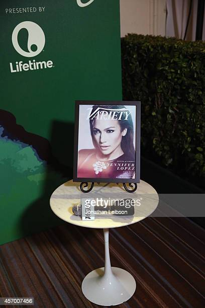 A general view of atmosphere at the 2014 Variety Power of Women presented by Lifetime at Beverly Wilshire Four Seasons Hotel on October 10 2014 in...