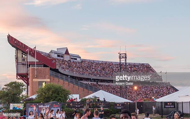 General view of atmosphere at the 2015 Billboard Hot 100 Music Festival at Nikon at Jones Beach Theater on August 23 2015 in Wantagh New York