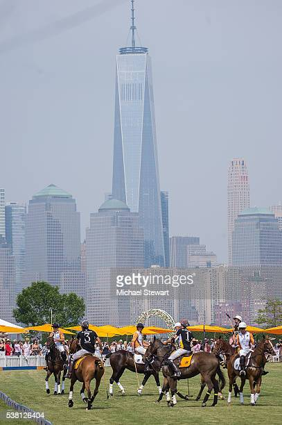 A general view of atmosphere at the 2016 Veuve Clicquot Polo Classic at Liberty State Park on June 4 2016 in Jersey City New Jersey