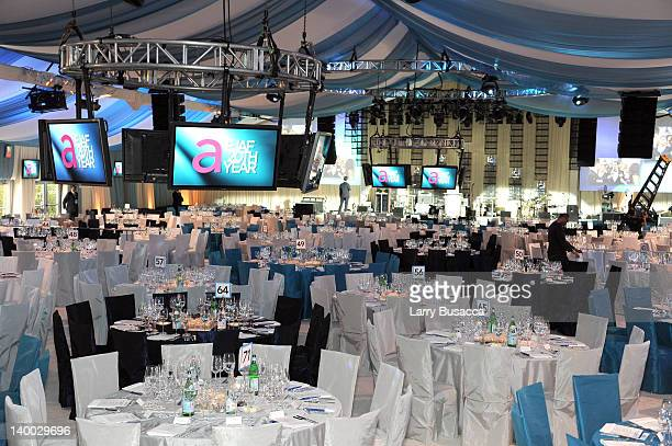 A general view of atmosphere at the 20th Annual Elton John AIDS Foundation Academy Awards Viewing Party at The City of West Hollywood Park on...