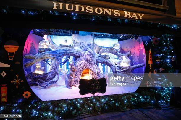 A general view of atmosphere at the 3rd annual holiday window unveiling event with Carly Rae Jepsen and Johnny Orlando at Hudson's Bay on November 4...