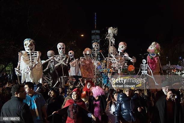 A general view of atmosphere at the 42nd Annual Village Halloween Parade on October 31 2015 in New York City