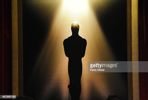 A general view of atmosphere at the 86th Academy Awards Nominations Announcement at the AMPAS Samuel Goldwyn Theater on January 16 2014 in Beverly...