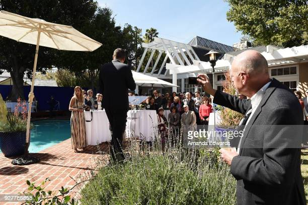 General view of atmosphere at the 90th Academy Awards French Nominees Reception hosted by the Consul General of France at La Residence de France on...