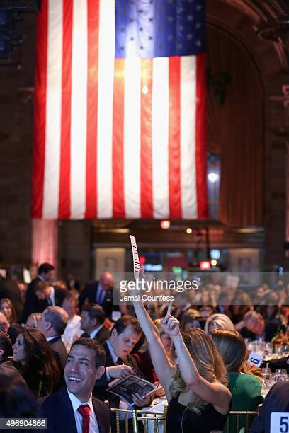 A general view of atmosphere at the 9th Annual IAVA Heroes Gala at the Cipriani 42nd Street on November 12 2015 in New York City