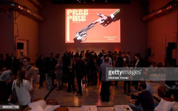General view of atmosphere at the after party for The Los Angeles Premiere Of 'Free Fire' Presented By Casa Noble Tequila on April 13 2017 in Los...