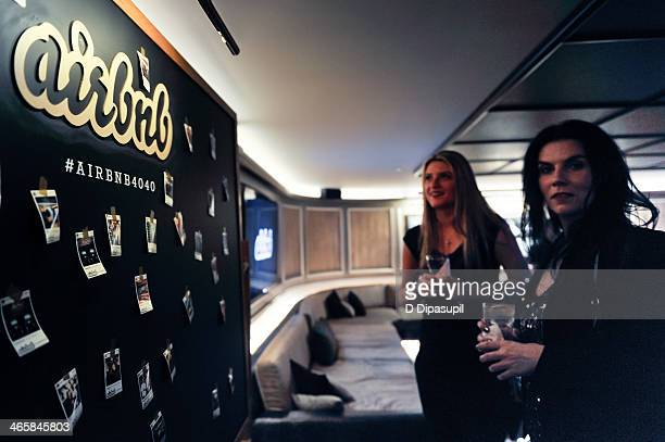 A general view of atmosphere at the Airbnb Super Suite at Roc Nation Sports Airbnb's Welcome To New York event at 40 / 40 Club on January 29 2014 in...
