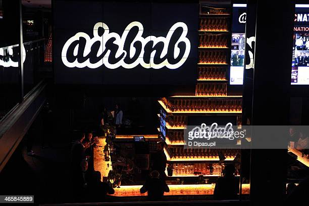 A general view of atmosphere at the Airbnb Super Suite at Roc Nation Sports Airbnb's 'Welcome To New York' event at 40 / 40 Club on January 29 2014...