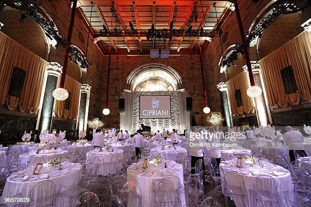 General view of atmosphere at the amfAR New York Gala To Kick Off Fall 2010 Fashion Week at Cipriani 42nd Street on February 10, 2010 in New York,...