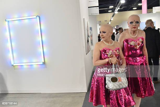 A general view of atmosphere at the Art Basel Miami Beach VIP preview on November 30 2016 in Miami Beach Florida