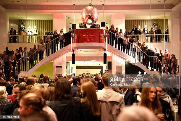 A general view of atmosphere at the attends GALA Christmas Shopping Night 2015 at Alsterhaus on November 19 2015 in Hamburg Germany