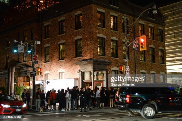 A general view of atmosphere at the Beautiful Boy afterparty hosted by Amazon Studios Hugo Boss during 2018 Toronto International Film Festival at...