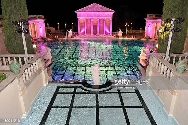 A general view of atmosphere at the Best Buddies Challenge Hearst Castle Neptune Pool Reception at Hearst Castle on September 7 2013 in San Simeon...