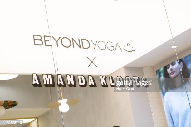 General view of atmosphere at the Beyond Yoga x Amanda Kloots Collaboration Launch Event on August 27 2019 in New York City