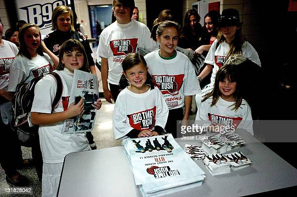 A general view of atmosphere at the Big Time Rush Walgreens School Event at Sycamore High School on October 29 2010 in Sycamore Illinois
