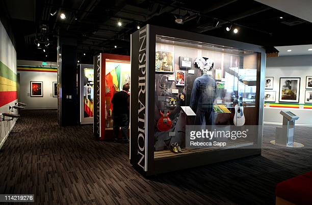 A general view of atmosphere at the Bob Marley exhibit launch at The GRAMMY Museum on May 11 2011 in Los Angeles California