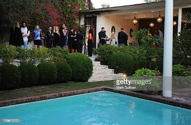 General view of atmosphere at the British Fashion Council private dinner hosted by Jessica de Rothschild at a private residence on October 18 2011 in...