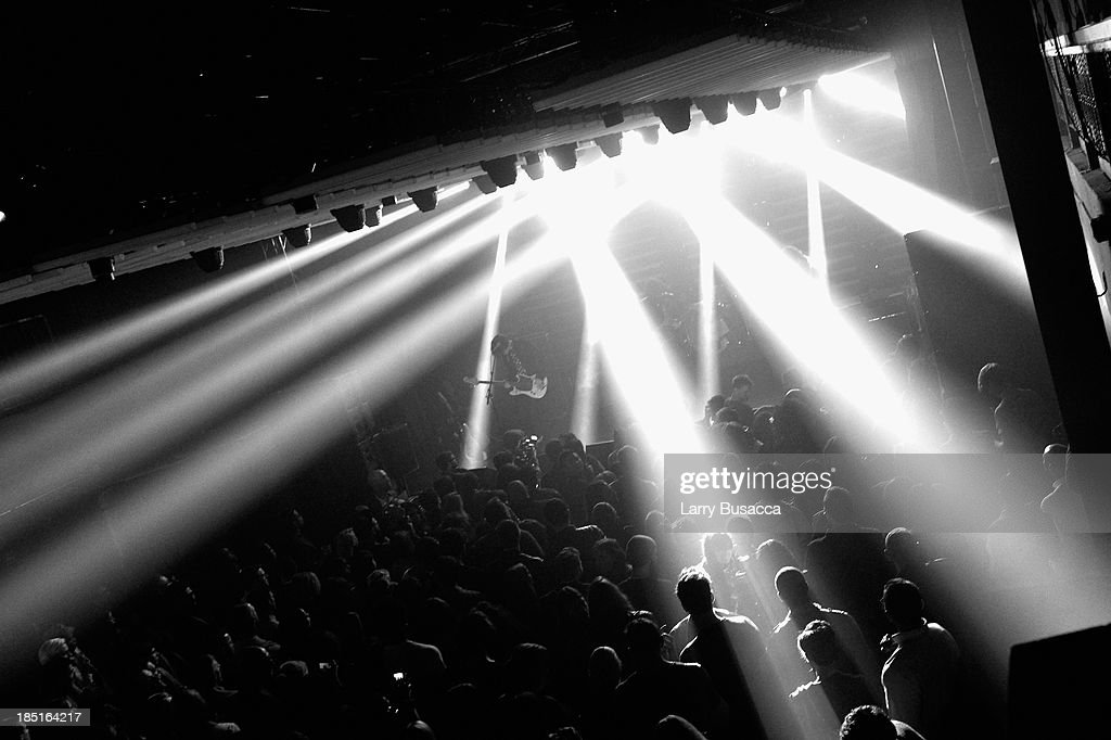 A general view of atmosphere at the Burberry Brit Rhythm Men's Launch in New York at Irving Plaza on October 17, 2013 in New York City.