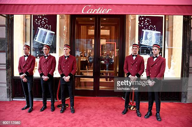 A general view of atmosphere at the Cartier Fifth Avenue Grand Reopening Event at the Cartier Mansion on September 7 2016 in New York City